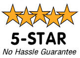 3 Star No Hassle Guarantee